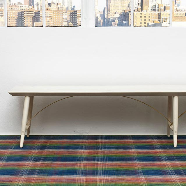 add some fun: chilewich plaid in wall-to-wall application ( in multicolor)