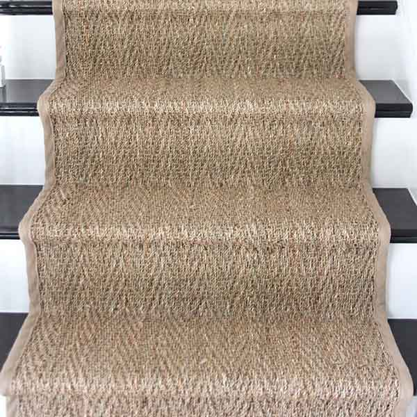 classic herringbone: arrowhead's natural look brings texture to your stairs (shown in natural)