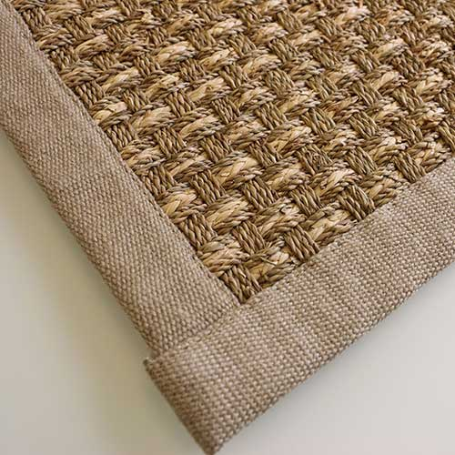 tropics bound in basketweave linen natural