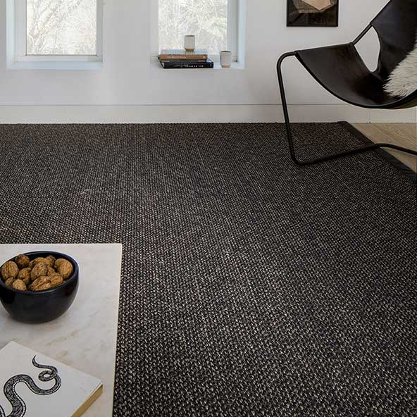 rich texture: cottage stain-resistant sisal rug in color ember