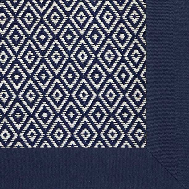 madrona in blue with navy soft cotton twill binding