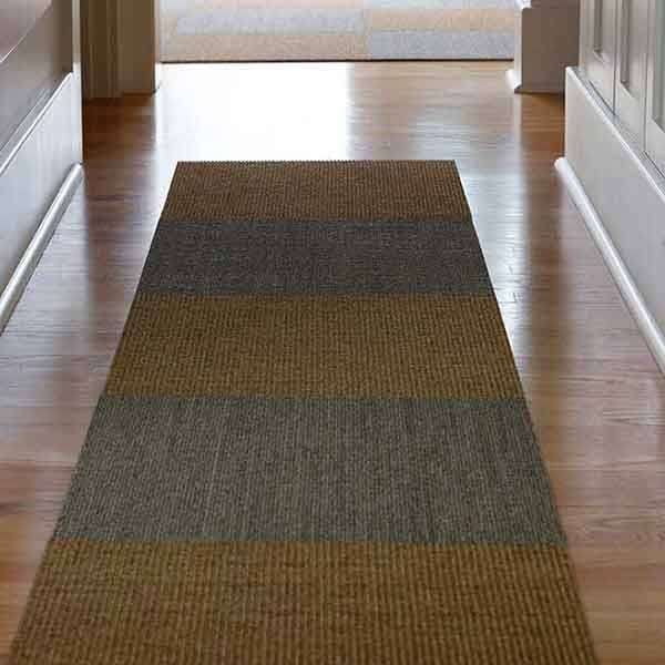 make a statement with a sisal tiles runner (shown in driftwood and sahara)