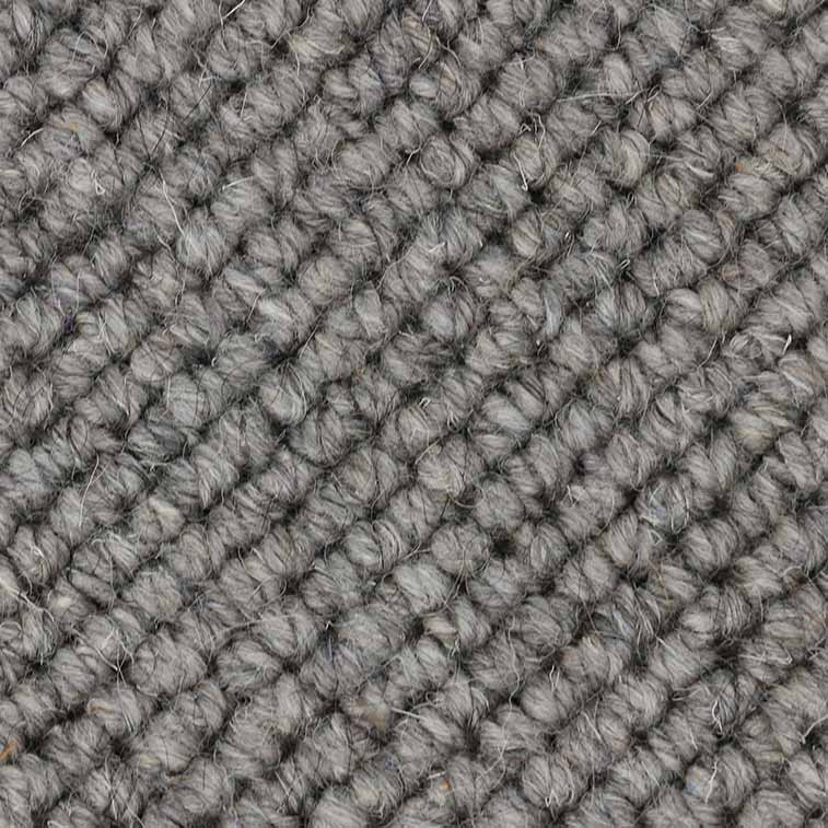 heathered fibers: wool & yak combine to make a cozy wool rug or carpet (color gray)