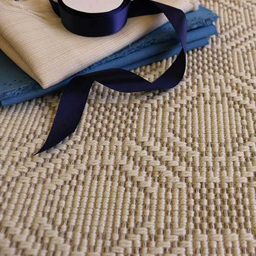 foxcroft displaying its interesting playful pattern in color cream