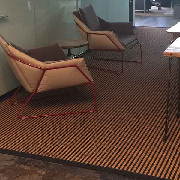 hilton head as a custom rug in an office setting