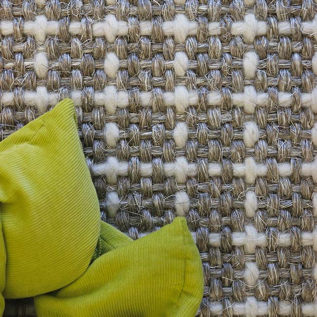 close-up: gibraltar's sisal-wool texture in color glacier