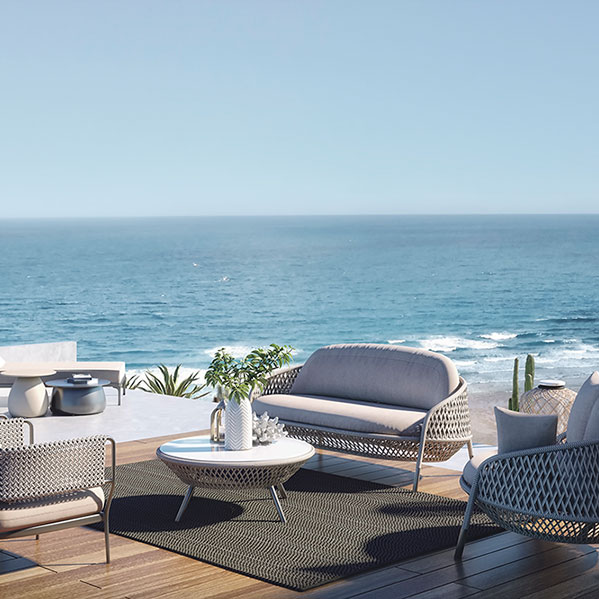 breathtaking: add to the view with patio (area rug in color dark earth)