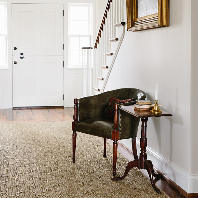 timeless style: the gorgeous color & classic pattern of salzburg create a welcoming entry way (color sandstone)