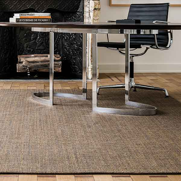 modern & warm: chic as a office rug shown in color amber