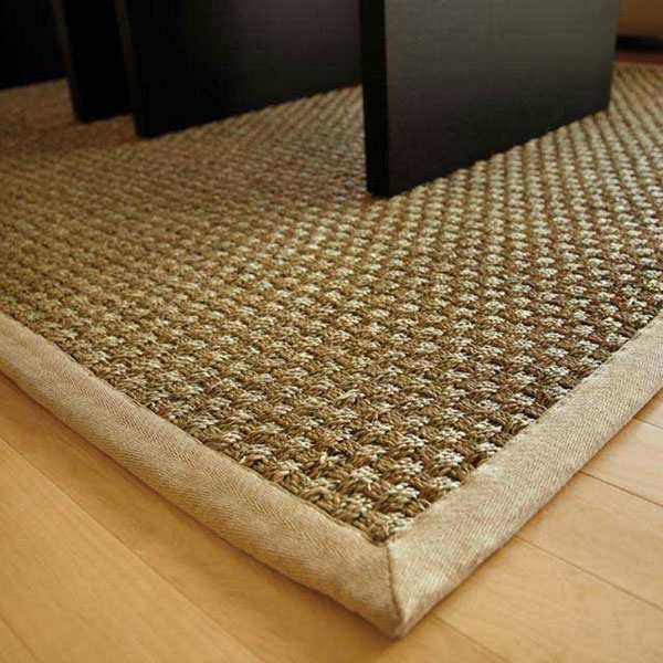 biscayne urethane area rug bound, color natural