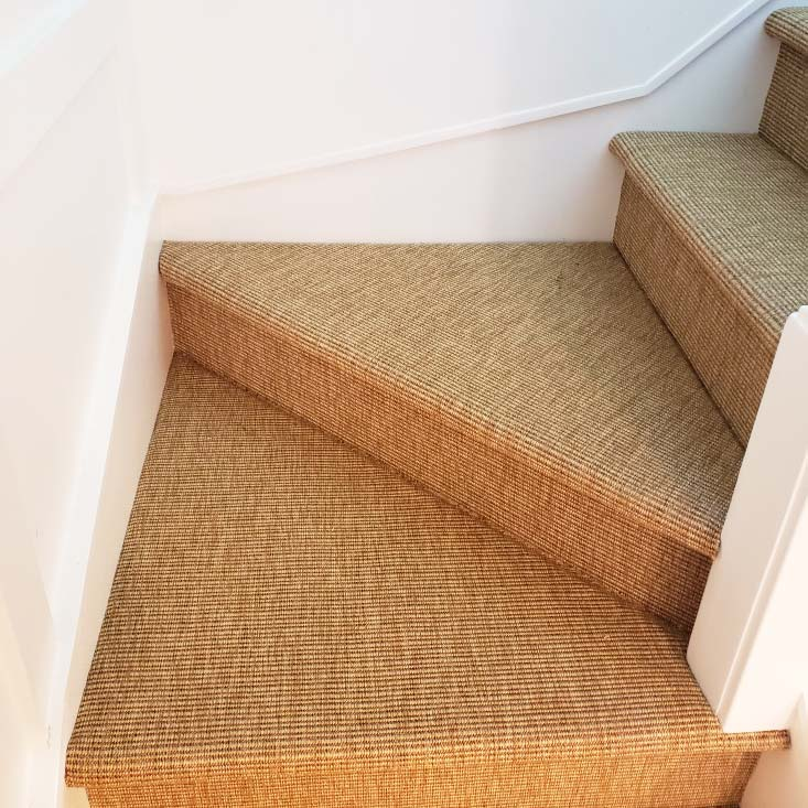 durable & sleek: westhaven installed on residential stairway in color curry