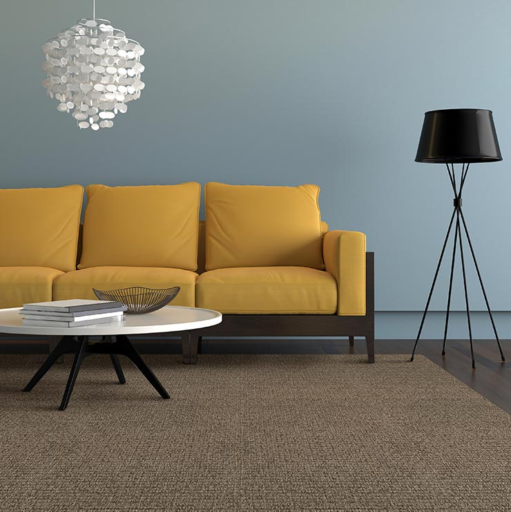 sophisticaed charm: winthrop as a living room custom rug in color smoke