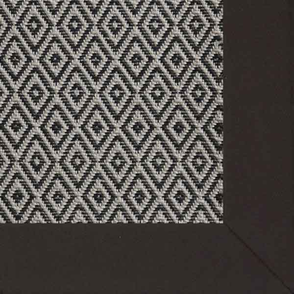 madrona in ebony with soft cotton twill binding in lava