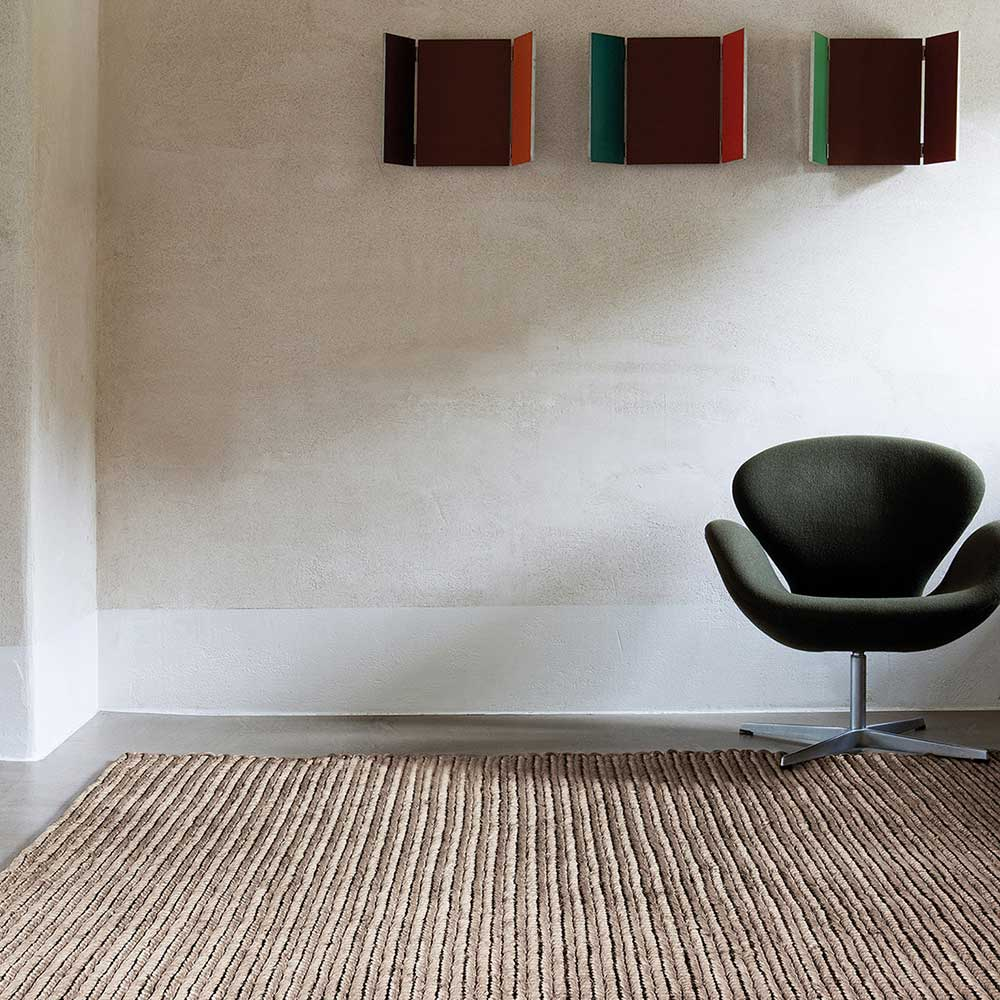 shine: abaca area rug in color aluminum