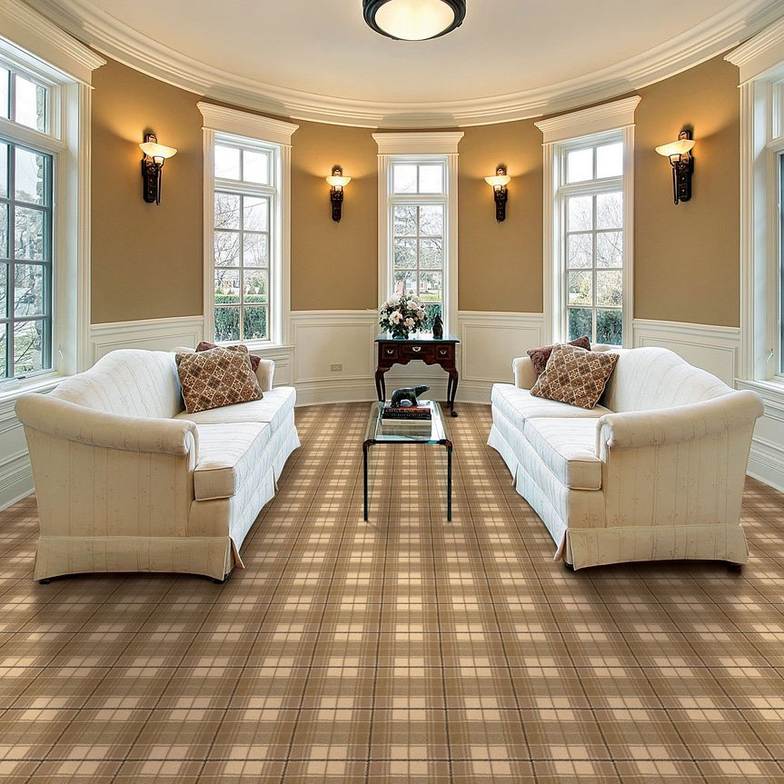 smooth sailing: ocean plaid in color sand for your home or your yacht