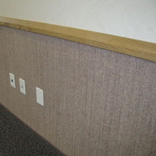 livos wall covering: protects the wall and absorbs noise
