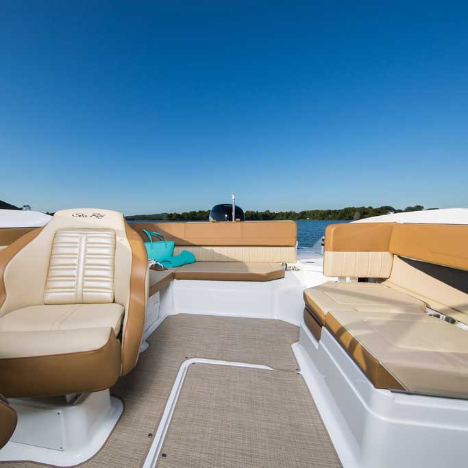 customize your boat with tidepool image provided courtesy of sea ray boats