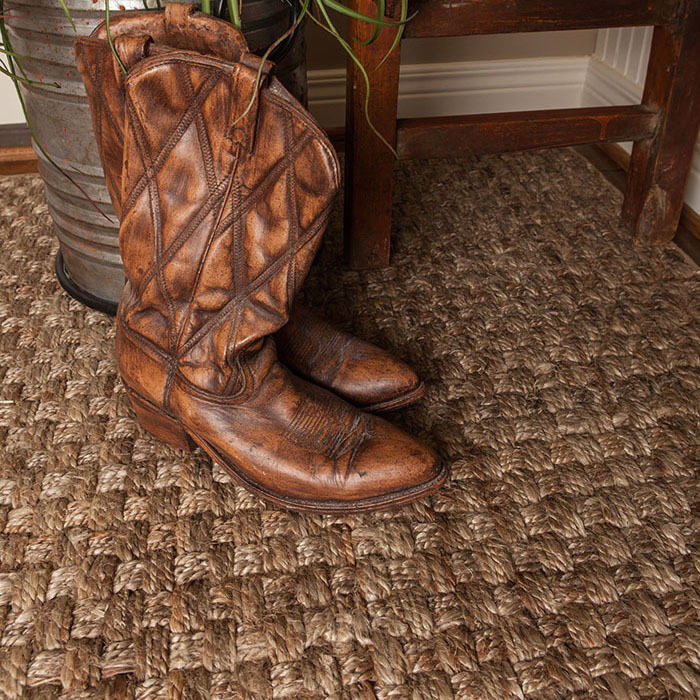 kick off your boots and feel the softness of natural jute (shown in color birch)
