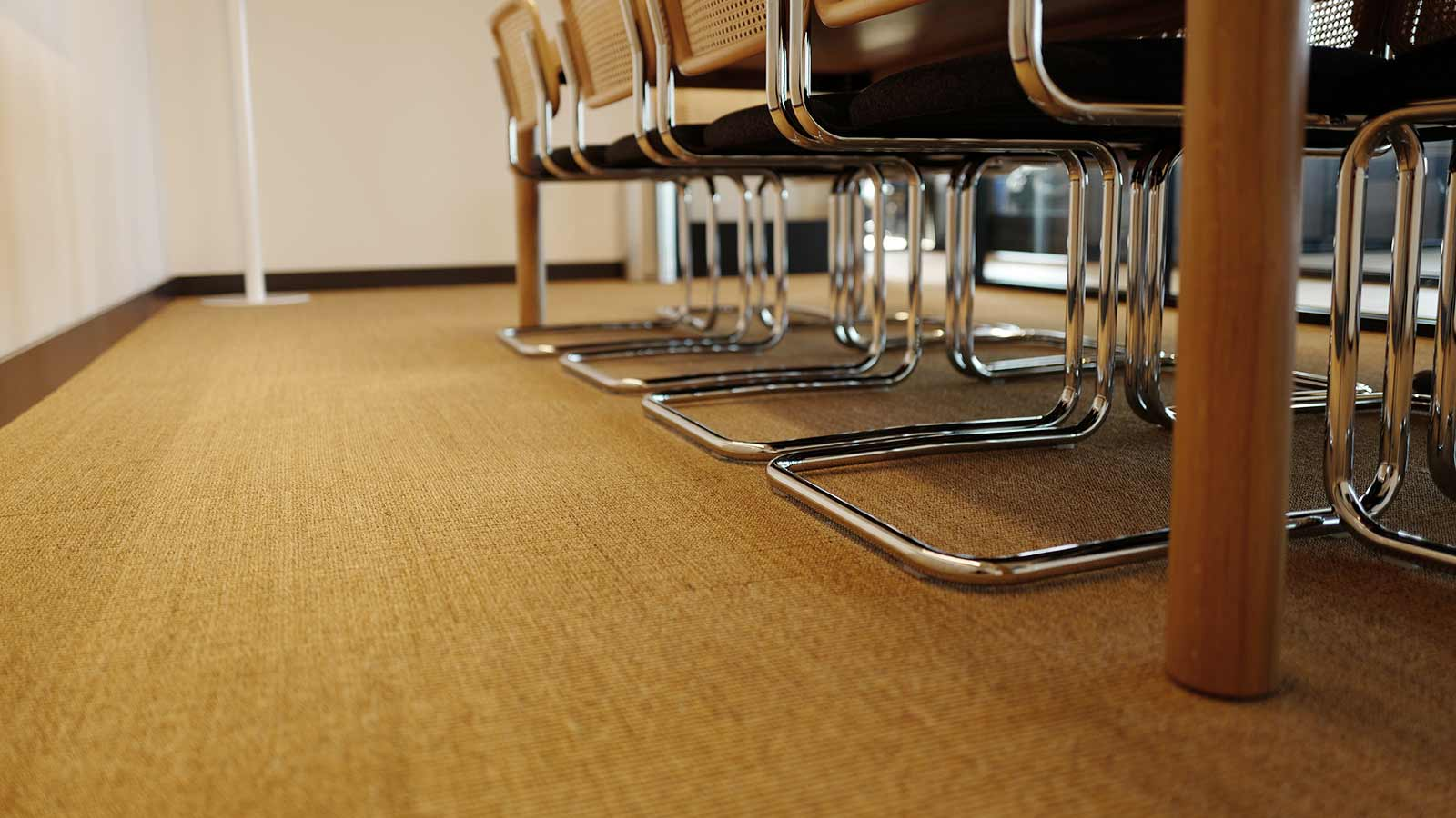 sisal tiles in conference room